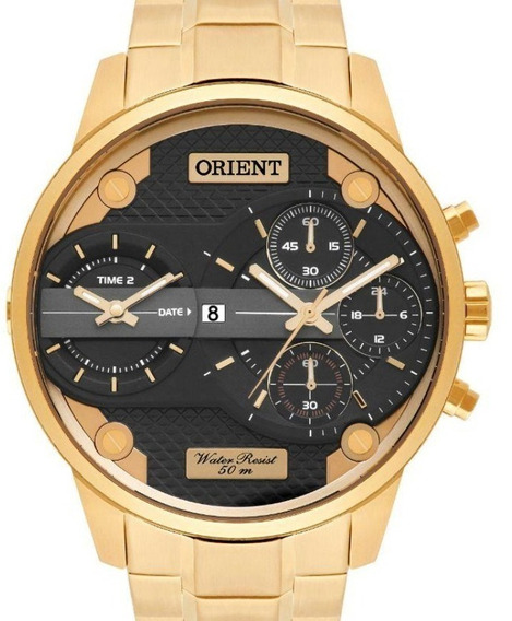 Relógio Orient Masculino Dual Time - Mgsst001 P1kx