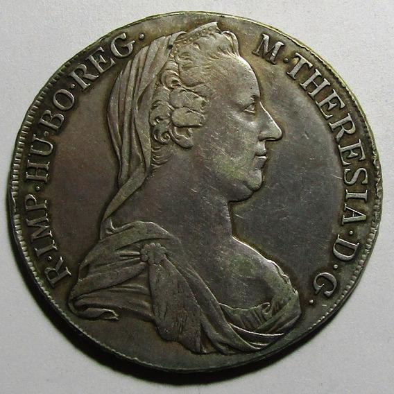 Austria Moneda 1 Thaler 1780 Ic Fa Vf+ Km#22 Maria Teresa
