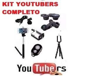 Kit5x1 Tripe+bastão+microfone+suporte+controle Youtubers