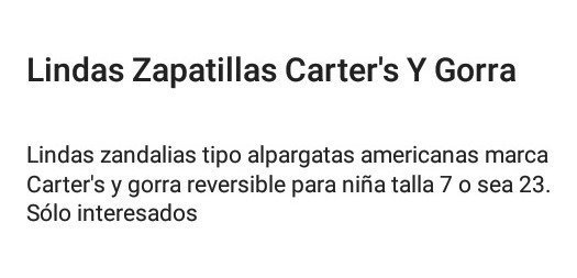 Lindos Zapatitos Marca Carter