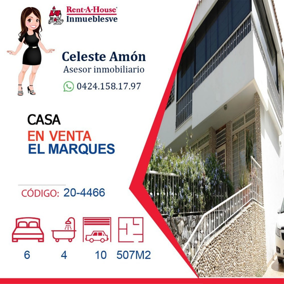 Casa En Venta El Marques 0424.158.17.97 Ca Mls #20-4466