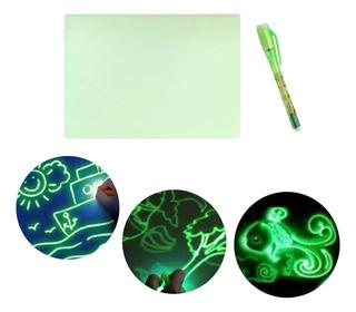 Tablero De Dibujo Luminoso Led Graffiti Doodle Tableta De