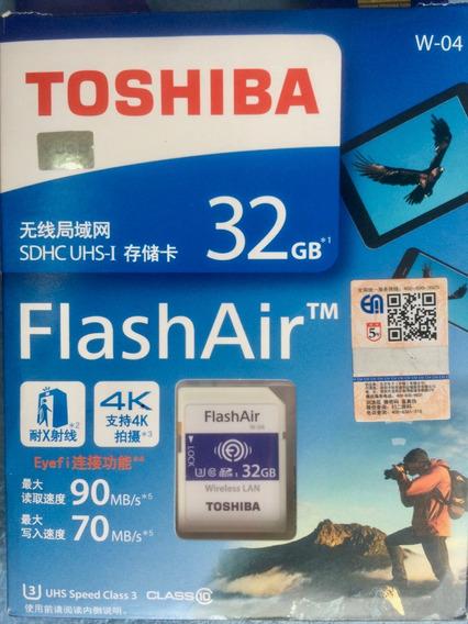 Cartao Wireless Sd Toshiba Flashair 32gb W4 4k