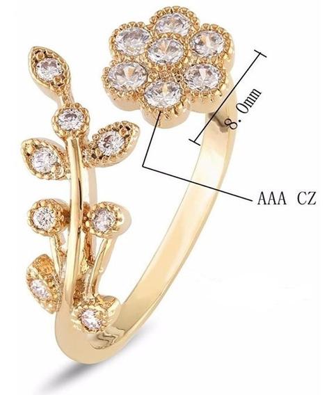 Anel Feminino Dourado Presente Esposa Casamento Bodas C710
