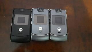 Motorola V3 - Lote Com 3 Unidades