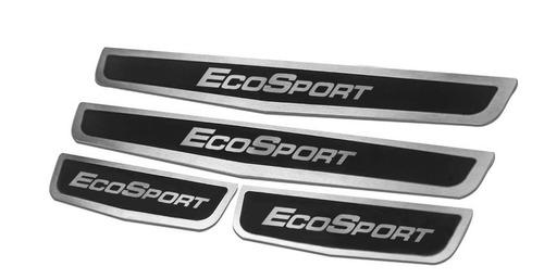 Cubre Zocalos Inoxidable P/ Ford Ecosport 2013/... Black