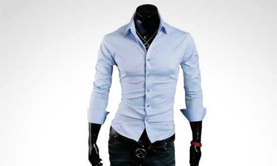 Pack X 3 Camisas Entalladas Slim Fit Para Hombre De Diseño