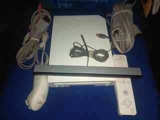 Nintendo Wii Completo Programado Con Usb Y 5 Juegos