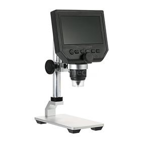 Microscópio Usb Digital Ampliação Até 600x Lcd 4,3 Com Tripé