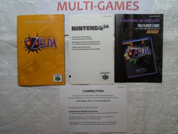 Manuais Do Jogo Zelda Majora´s Mask - N64