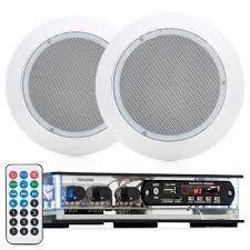 Kit 1 Receiver Bluetooth + 2 Caixas Pretas + 2 Arandelas Br