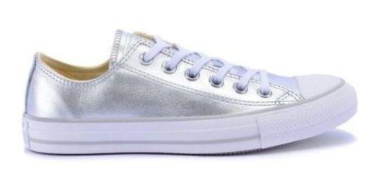 Tênis Feminino Converse All Star Prata Branco Prata 004472