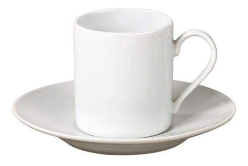 Taza De Café Con Plato Blanca 90 Ml
