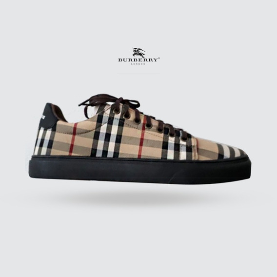 Tênis Sapatênis Burberry Xadrez Bege Black Friday 2019