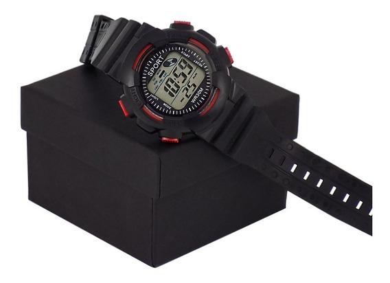 Relógios Sport Digital Luz De Led / Acompanha Caixas
