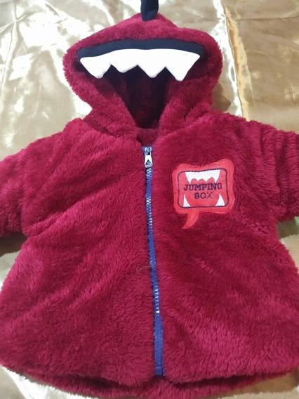 Campera Dinosaurio Piel Bebe Importada Usa Impecable!!!!