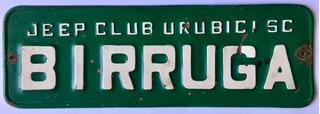 Placa Carro Santa Catarina Verde Antiga Ferro Original 1989