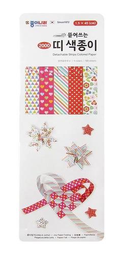 Papel De Origami Jong Ie Nara Detachable Strips Colored Pape
