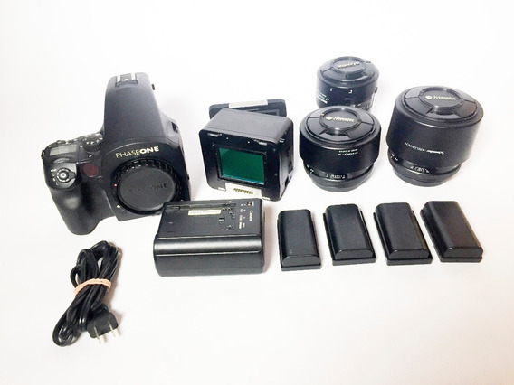 Camera Phase One Df - Back Digital Iq180 + 3 Lentes
