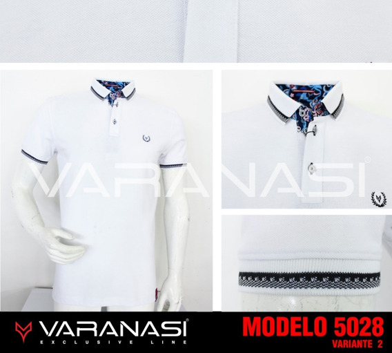 Playera Hombre Tipo Polo 5028 Slim Fit Moda Varanasi