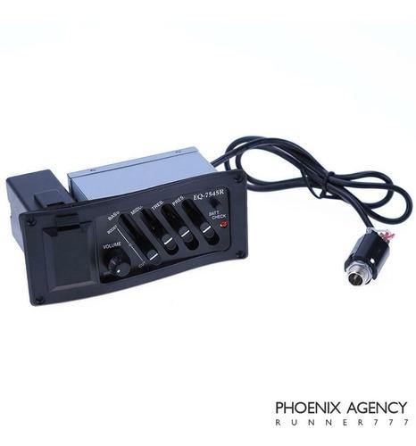 Microfono Guitarra Acustica Con Ecualizador Y Afin Eq 7545r