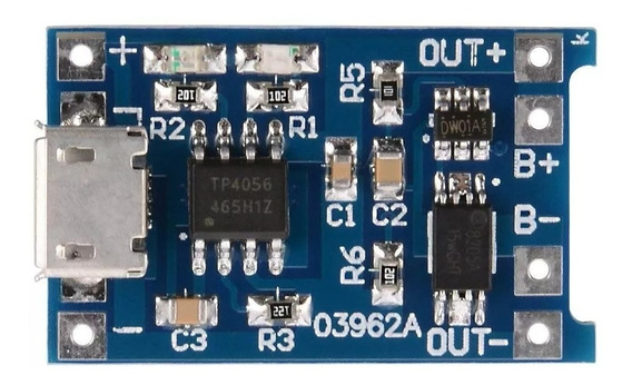 Módulo Tp4056 Carregador De Baterias Lítio Arduino Pic