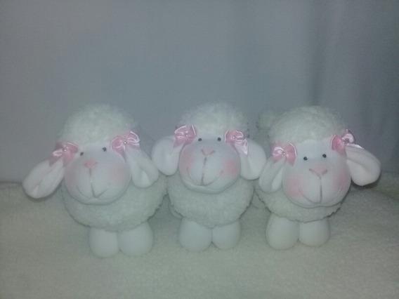Trio Ovelhinhas De Pelúcia Alpaca