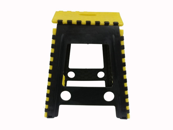 Banco Plegable Multicolor Ipvca Negro Amarillo- 22650 Maf