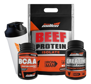 Beef Protein Isolate + Bcaa + Creatina - New Millen + Shaker