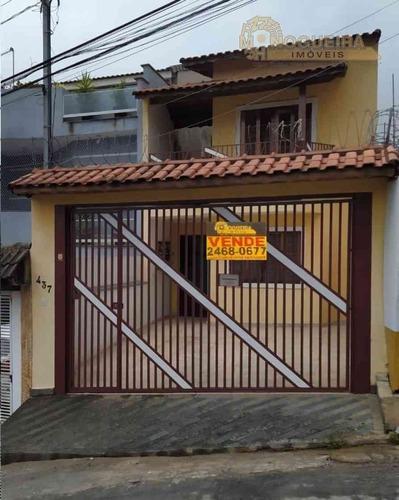 Imagem 1 de 18 de Sobrado 3 Dormitórios C/ 1 Suíte - Jardim Silveira  - 4519