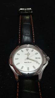 Reloj Orient Quartz Impecable Malla De Cuero