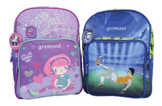 Combo Gremond 2 Mochilas Escolares Infantiles Jardín Para Ni