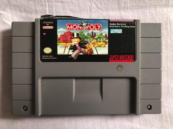 Monopoly Super Nintendo Original Snes