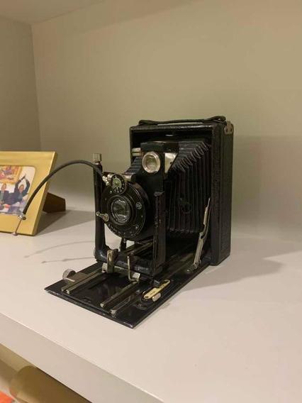 Maquina Câmera Fotográfica Antiga De Fole