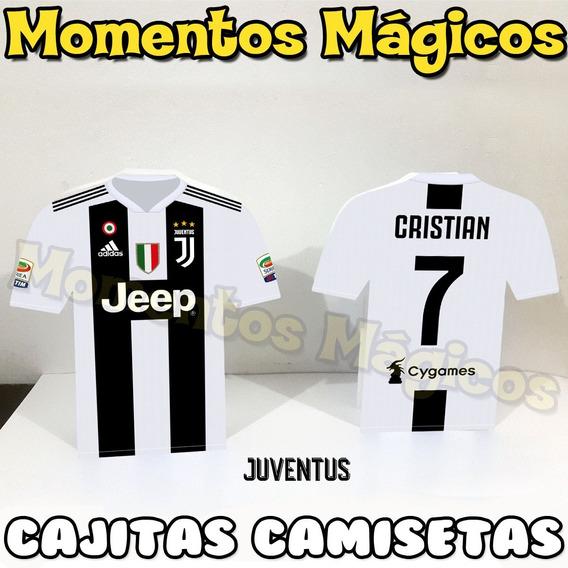 10 Cajitas Camiseta Futbol Souvenirs Juventus Golosineras
