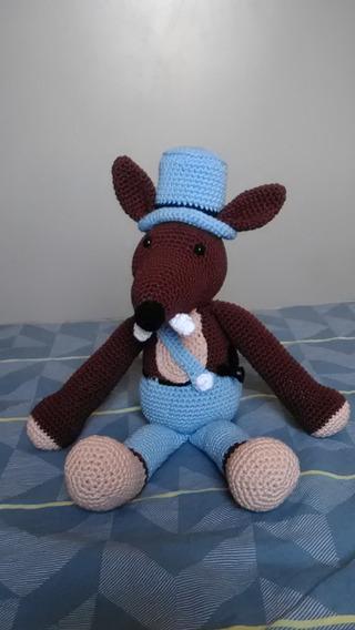 Amigurumi Lobinho Em Crochê Boneco De Pelúcia Promoção