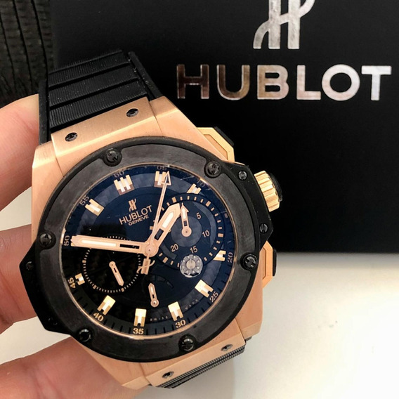 Hublot King Power Split Seconds Power Reserve Ouro Rosé 48mm