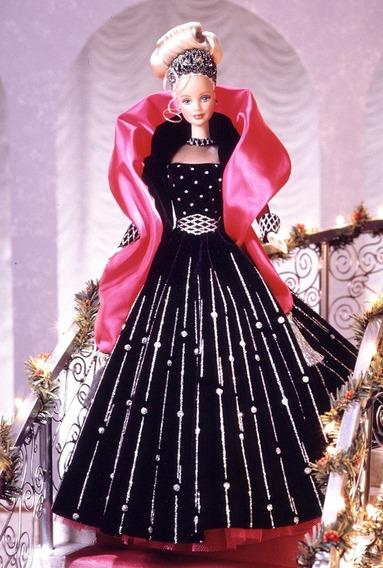 Boneca Barbie Holiday 1998 Nrfb Lacrada Antiga Rara Happy