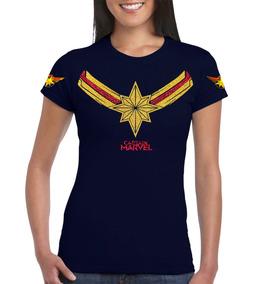 Playera Captain Ms. Marvel Capitana Marvel Avengers Gliter
