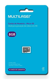 Kit 05 Cartões De Memória 8gb Micro Sd Multilaser Mc 141 Atacado
