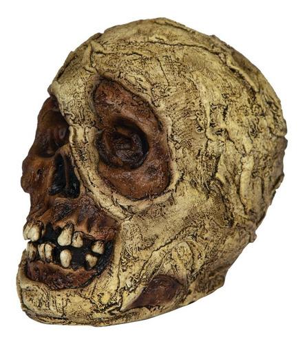 Imagen 1 de 1 de Decorativo De Látex Cráneo Momia Mummy Skull