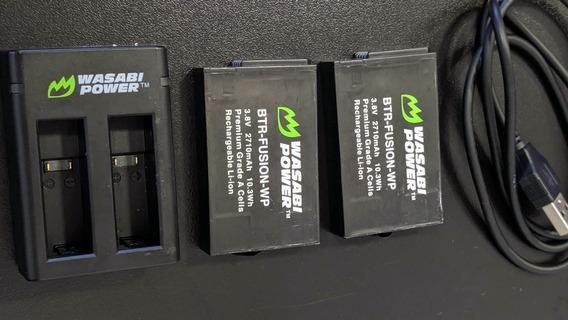 2x Baterias + Carregador Duplo Gopro Fusion 360