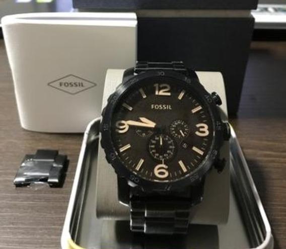 Relógio Fóssil Jr1356 Original, Impecável Perfeito,todo Aço