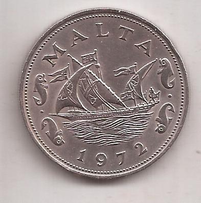 Malta Moneda De 10 Cents Año 1972