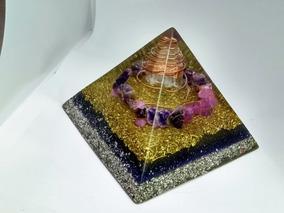 Orgonite Piramide Grande Ametista