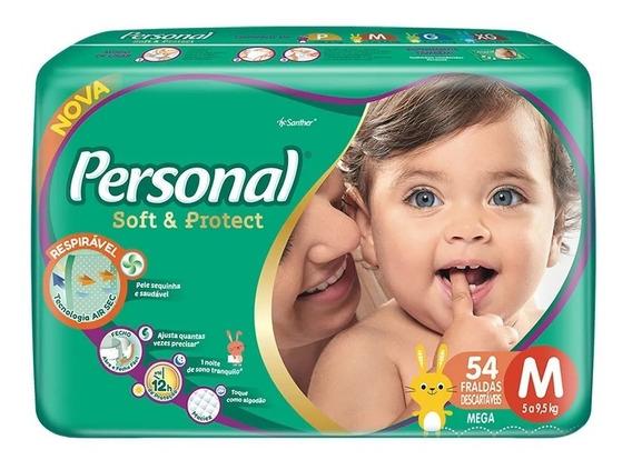 Fralda Personal Soft E Protect Combo C/3 Pct Tamamho M