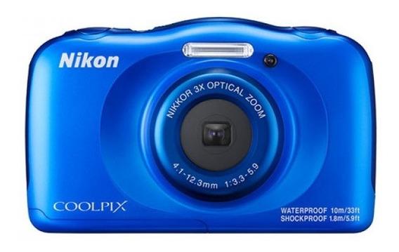 Câmera Nikon Coolpix W100 Blue + Cartão 16gb