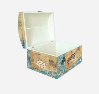 Cofre Urna Madera Casamiento/boda 40x30x25 Diseño A Elección