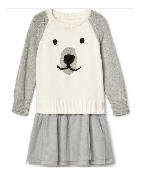 Vestido Baby Gap Inverno Cachorro 24 Meses Original