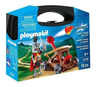 Playmobil 9106 Maletín Catapulta De Caballero